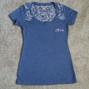Mossimo Tee with Floral Accent
